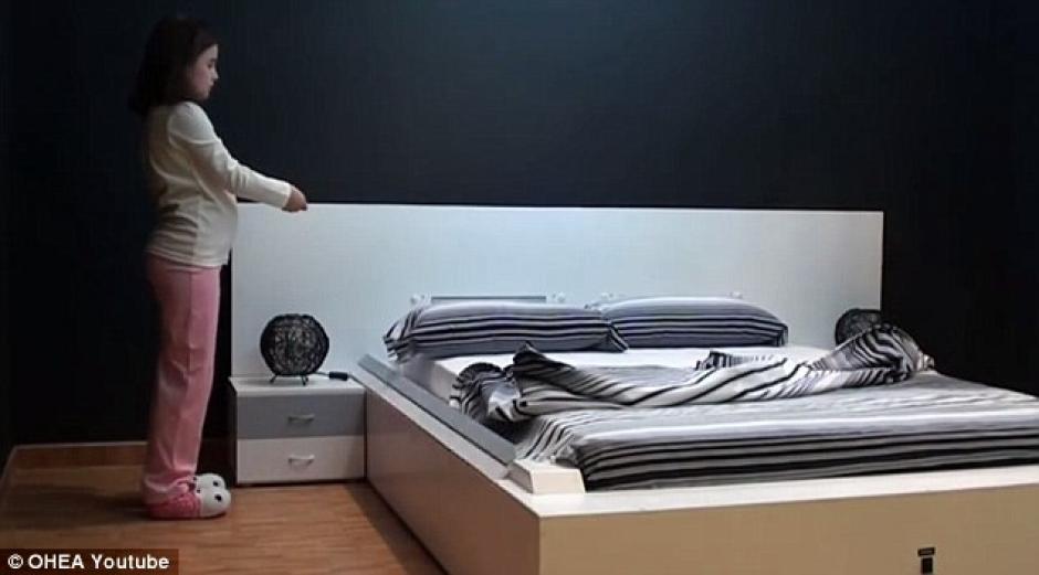 """La cama que """"se hace sola"""" podría revolucionar el mercado. (Foto: dailymail.co.uk)"""