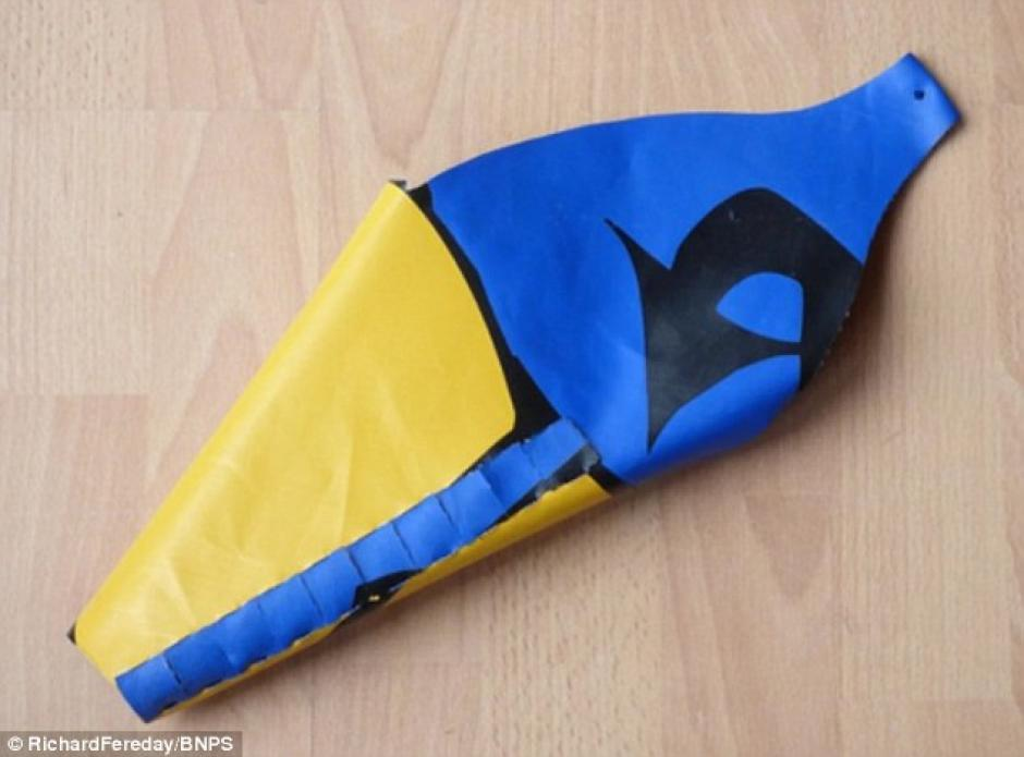 El invento que Richard Fereday quiere fabricar para vender. (Foto: Dailymail)