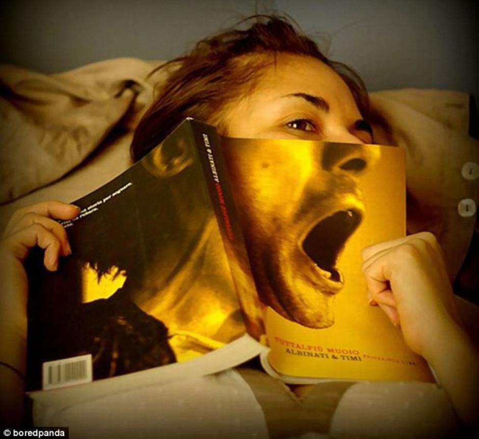 Un libro que parece que grita. (Foto: dailymail.co.uk)