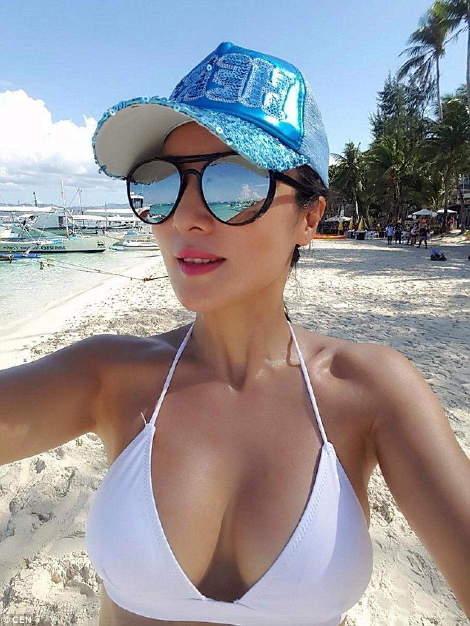 Ella dice que empezó a tonificar su cuerpo gracias a la natación. (Foto: dailymail.co.uk)