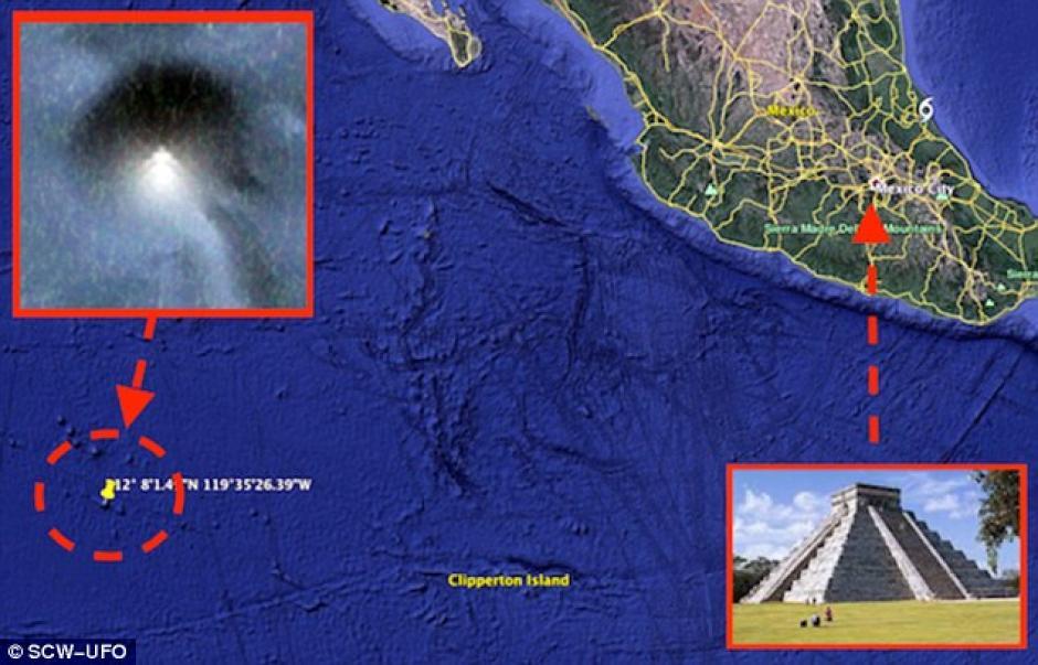 El hallazgo está ubicado en el Océano Pacífico, cerca de las costas mexicanas