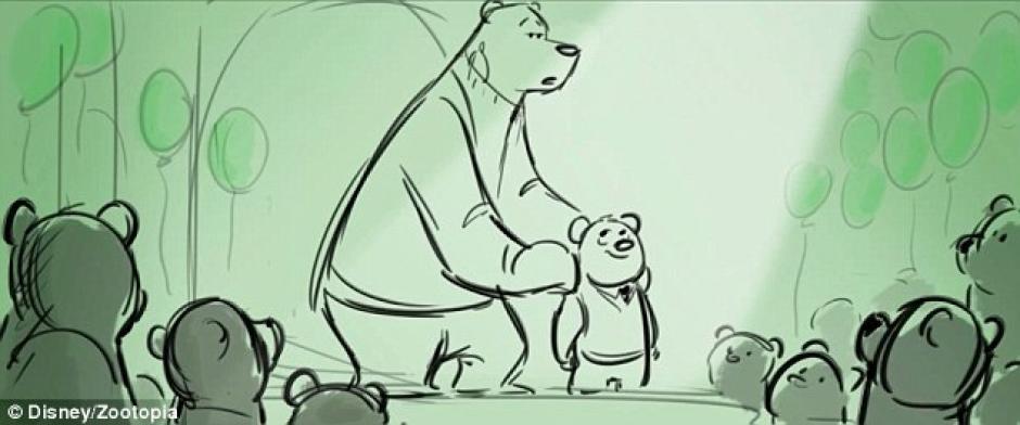 En la escena el padre presenta al hijo en una fiesta especial por su edad. (Foto: Disney Zootopia)