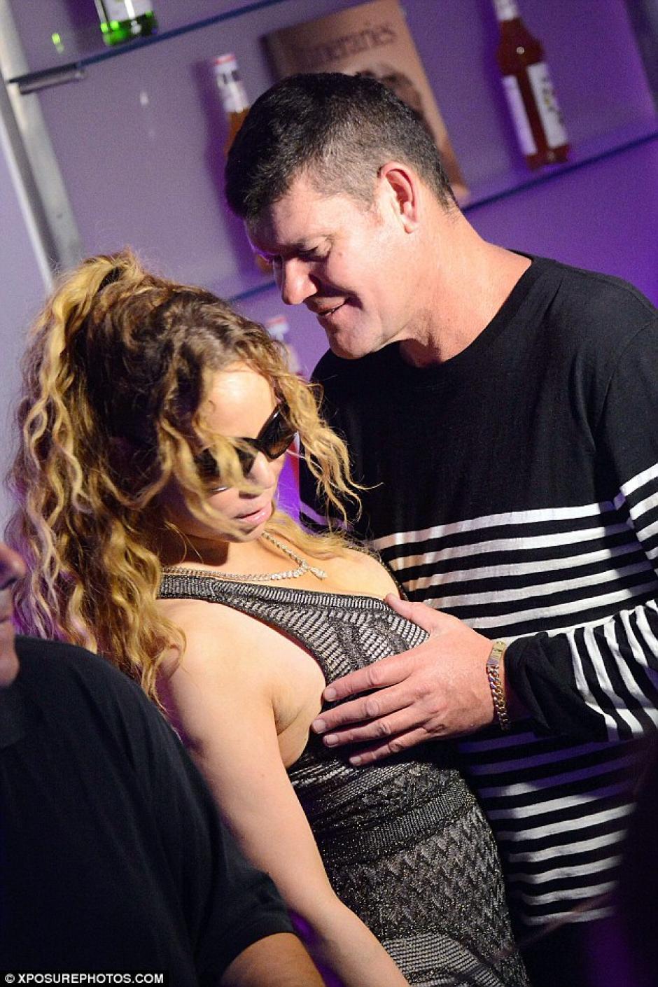 James dejó muy claro que existe mucha confianza con Mariah como para hacerse esta clase de cariñitos en público. (Foto: Exposure Photos)