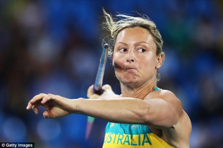 Kim Mickle es una lanzadora de jabalina australiana. (Foto: dailymail.co.uk)