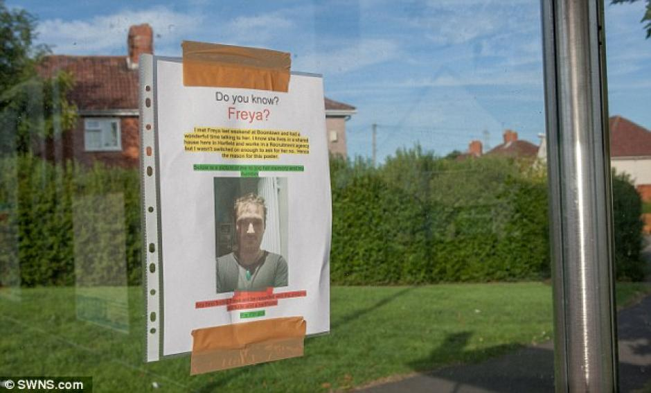 """El afiche inicia con la pregunta """"¿Conoces a Freya?"""". (Foto: Daily Mail)"""