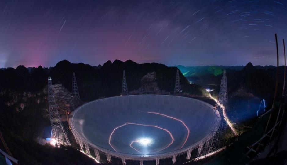 El telescopio que se construye en China abarca el espacio de 30 estadios de fútbol. (Foto: peru21.com)