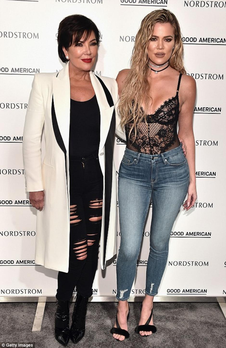 Khloé junto a su madre Kriss Jenner. (Foto: dailymail)