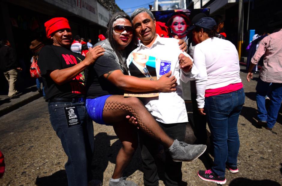 Otto Pérez Molina y Roxana Baldetti fueron los personajes más representados durante la Huelga.(Foto:Jesús Alfonso/Soy502)