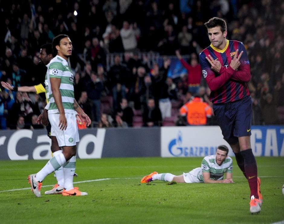 Piqué abrió el camino de la goleada del Barcelona al minuto 7
