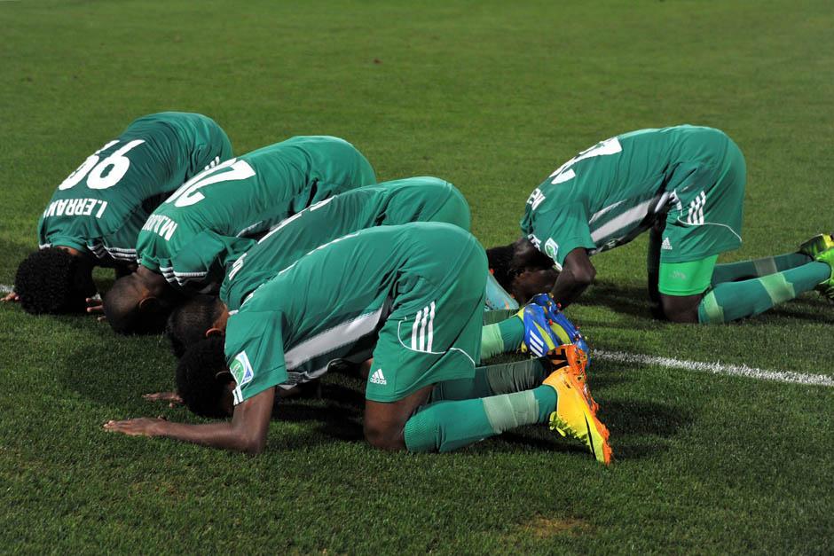 Los marroquíes celebraron el triunfo ante los brasileños