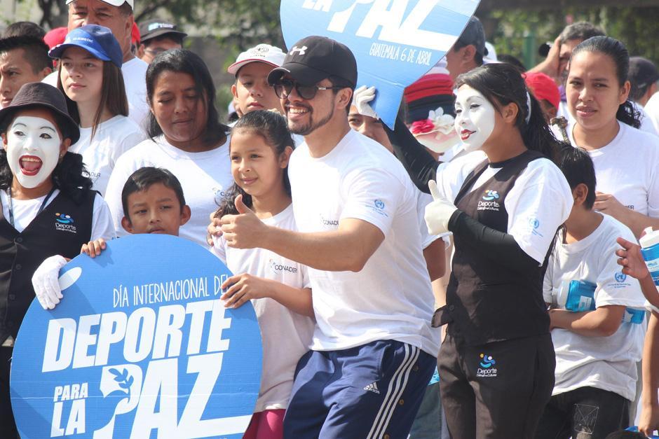 Gabriel Sagastume, ex seleccionado de taekwondo y uno de los representantes de CONADER, estuvo presente en la actividad