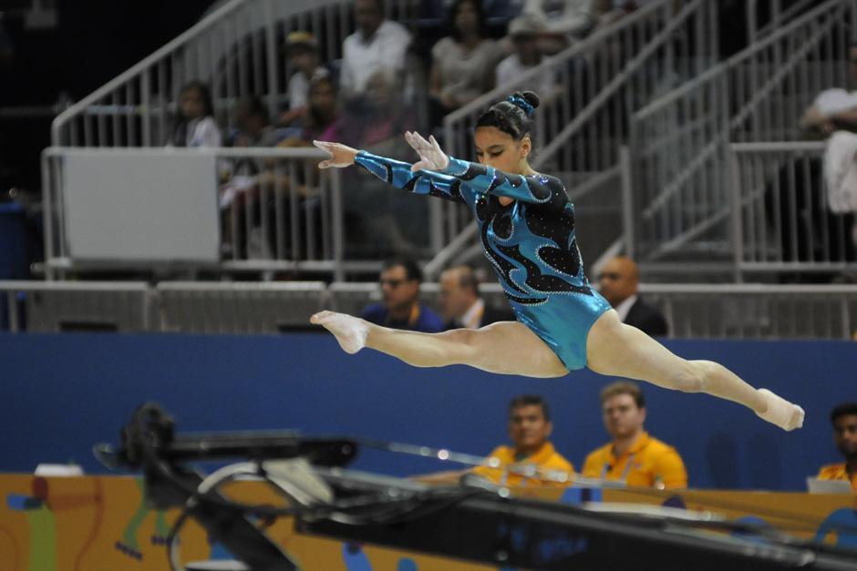 Ana Sofía Gómez quedó séptima en la prueba final de viga de equilibrio.