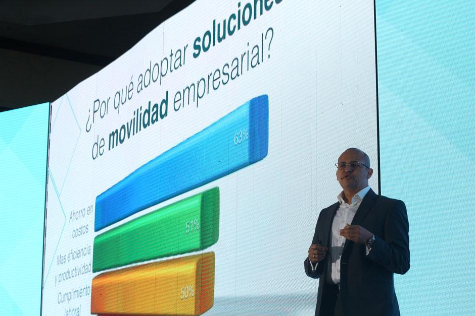 Francisco Mansilla, director del Tigo Business Forum indicó que se estima que en Guatemala hay 7.5 millones de teléfonos inteligentes. (Foto: Alexis Batres/Soy502)