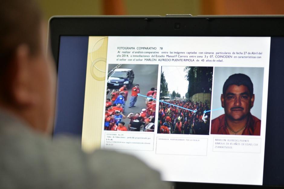 """En los fotogramas se mostró una imagen de Marlon Puente, """"Pirulo"""", quien ya fue sentenciado por este caso. (Foto: Wilder López/Soy502)"""