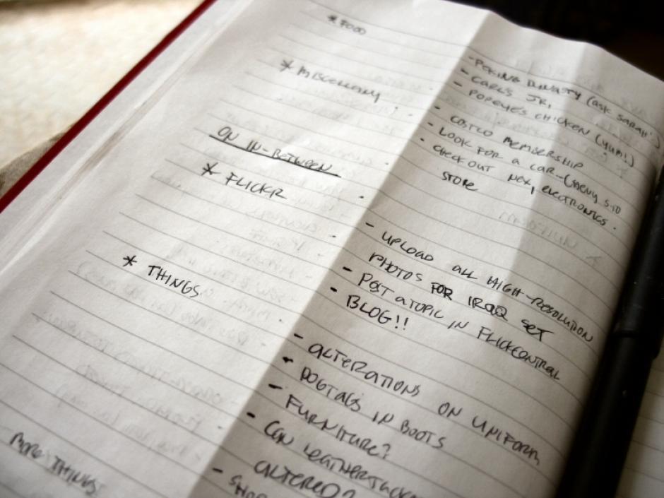 No tienen listas de cosas pendientes. (Foto: Flickr)