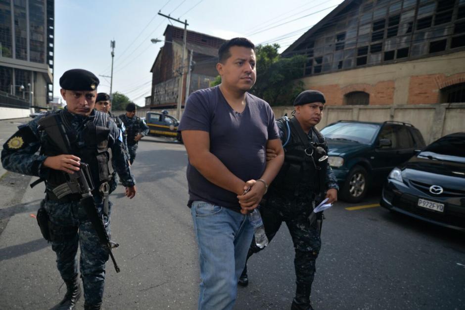 Antonio Rodríguez Vásquez detenido por el delito de cohecho pasivo. (Foto: Wilder López/Soy502)