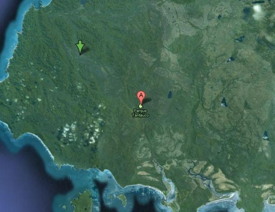 El Parque Nacional Tantucao en Chile tampoco puede verse. Esta reserva natural privada es el hogar de muchos animales en peligro de extinción. (Foto: Google Maps)