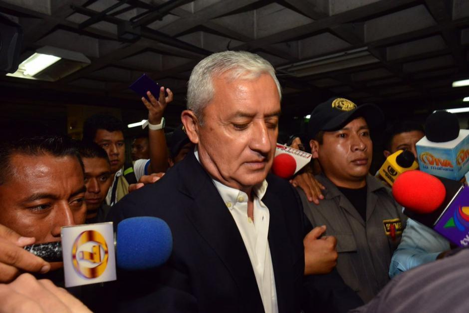 Pérez Molina afirmó que desconoce los detalles del caso Cooptación del Estado. (Foto: Jesús Alfonso/Soy502)