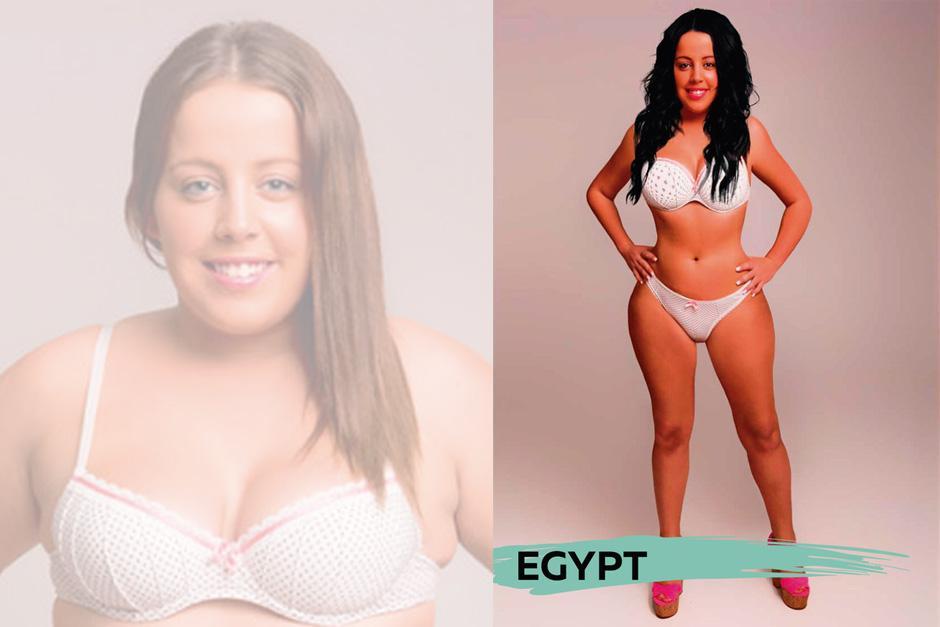Para Egipto, otro cabello y una cintura más delgada.