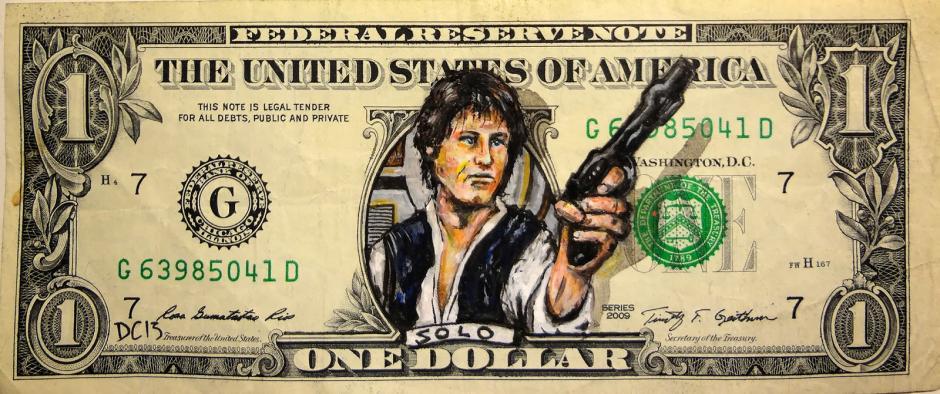 Han Solo, el capitán humano del Halcón Milenario. (Foto: artes9.com)