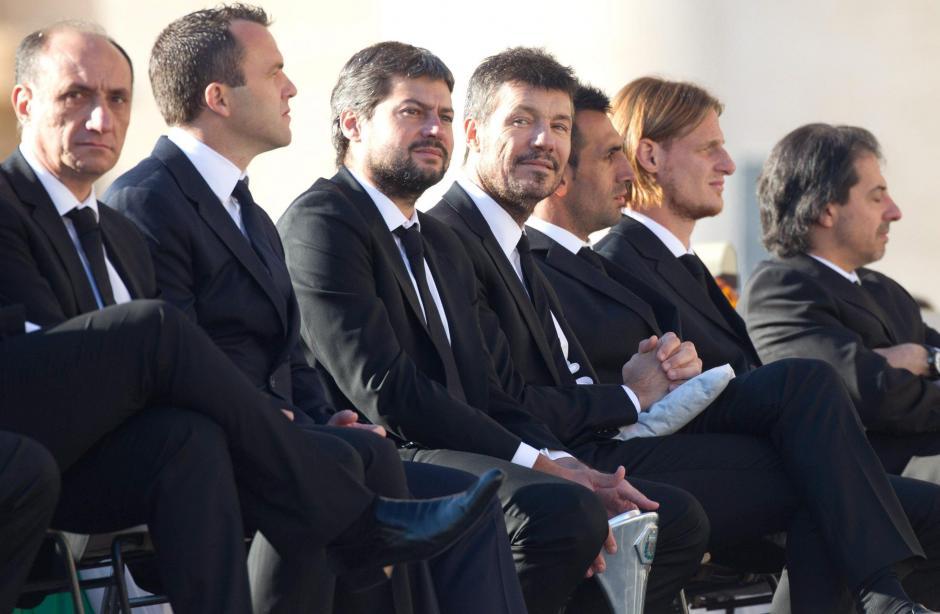 Los jugadores del club San Lorenzo de Almagro