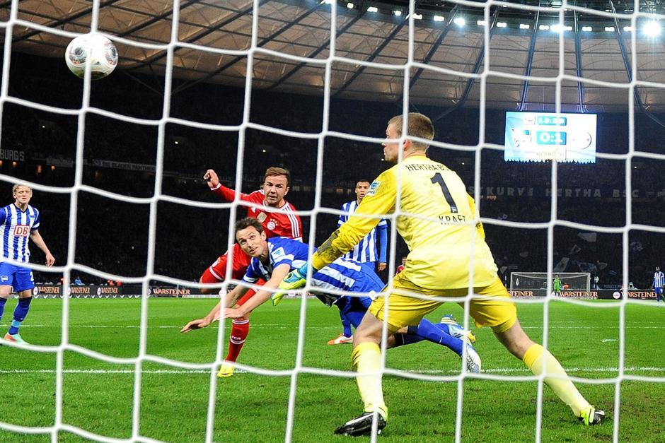 Mario Goetze fue el encargado de poner el 2-0 ante el Hertha. (Foto: EFE)