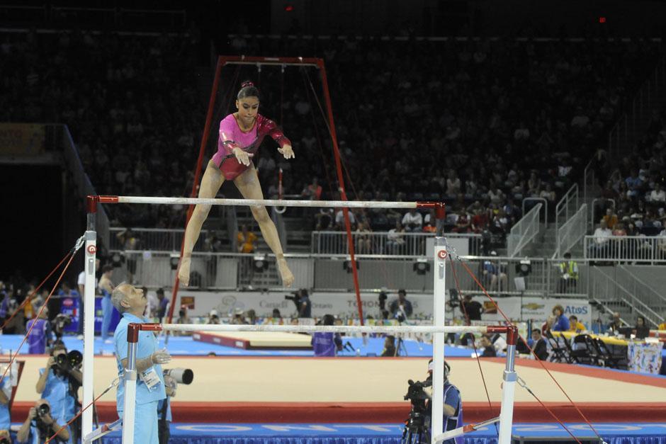 Ana Sofía tuvo un total de 13.900 puntos en su prueba final de barras asimétricas