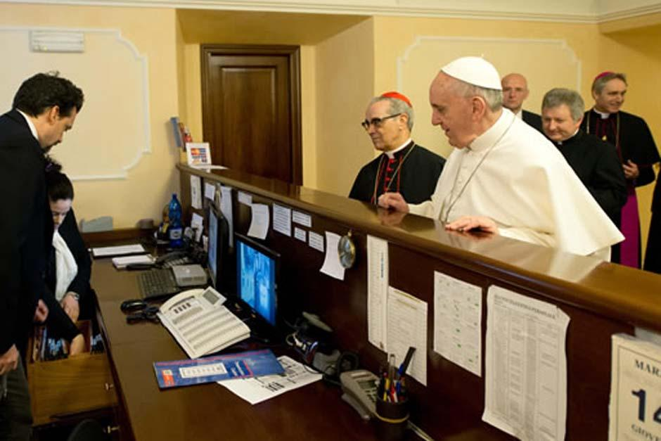 El papa Francisco pagó la cuenta del hospedaje donde se quedó