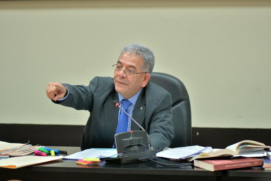 El juez Miguel Ángel Gálvez suspendió la audiencia de primera declaración en caso Cooptación del Estado. (Foto: Wilder López)