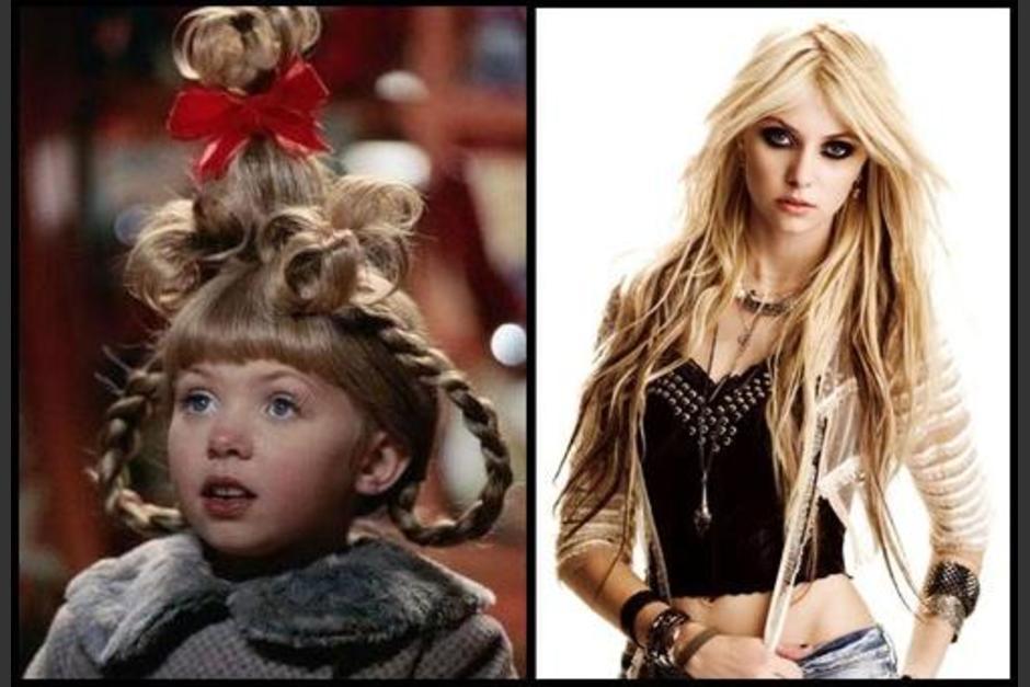 """Taylor Momsen luce bella a 17 años de haber saltado a la fama en """"El Grinch"""". (Foto: Twitter)"""