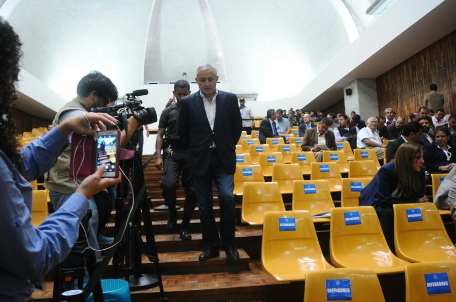 El expresidente Otto Pérez Molina podría declarar este miércoles. (Foto: Alejandro Balán/Soy502)