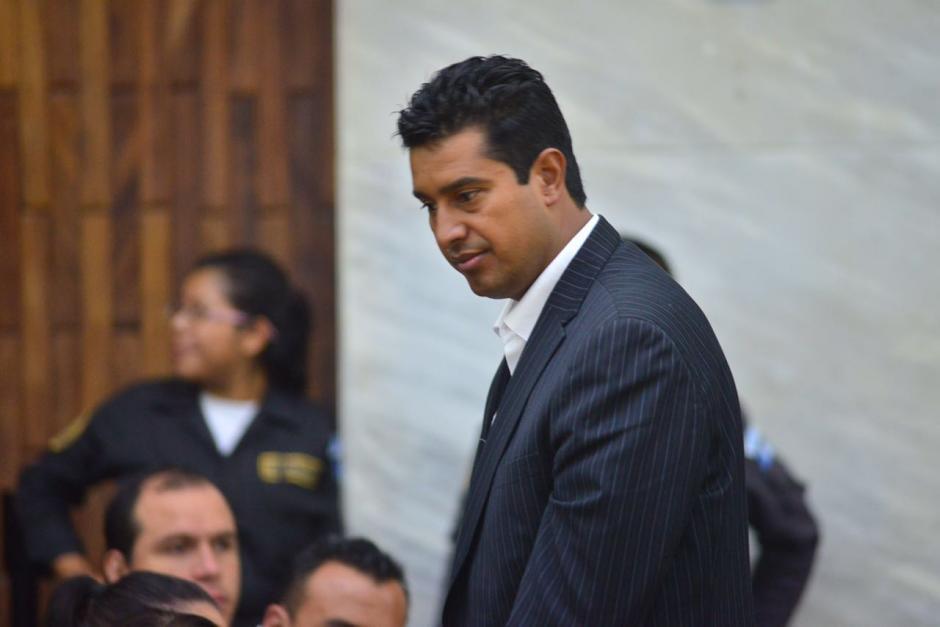 Rudy Gallardo, director del Renap en su llegada a la Torre de Tribunales. (Foto: Jesús Alfonso/Soy502)