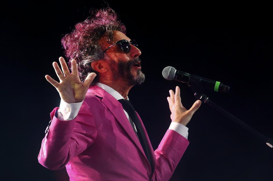 El artista argentino Fito Páez, fue parte del segundo show en la Quinta Vergara, del Festival Internacional de la Canción de Viña del Mar. (Foto:EFE)