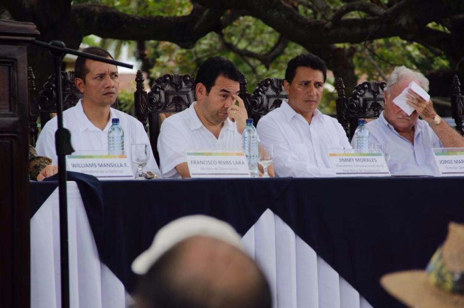 El presidente Jimmy Morales participó en la inauguración del aeródromo de Retalhuleu. (Foto: Fredy Hernández/Soy502)