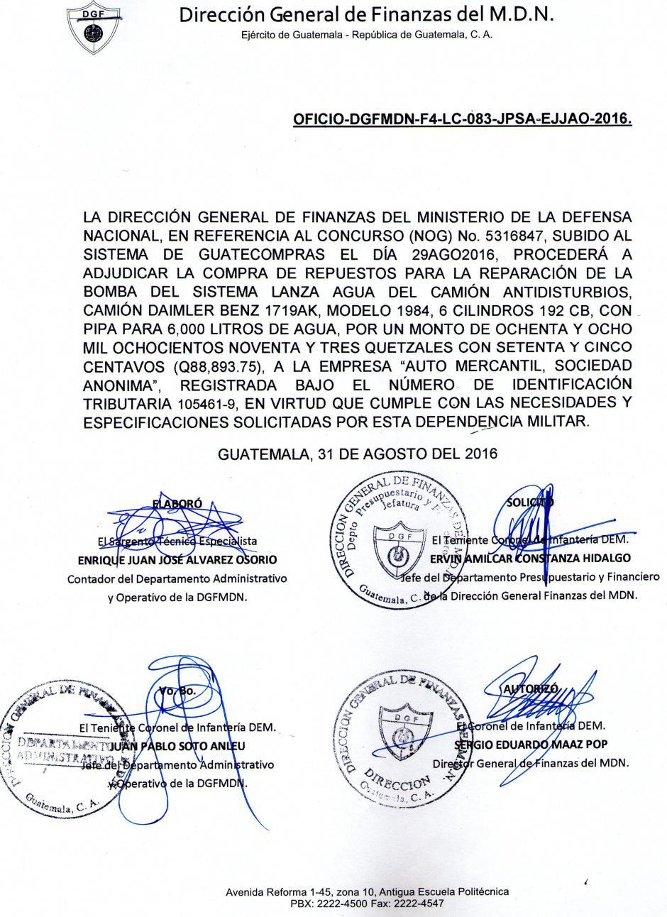 No se especifica ningún requisito para el proveedor. (Foto: Guatecompras)
