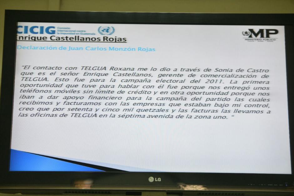 En la audiencia se presentó información del testimonio de Juan Carlos Monzón, que implica a Enrique Castellanos. (Foto: Wilder López/Soy502)