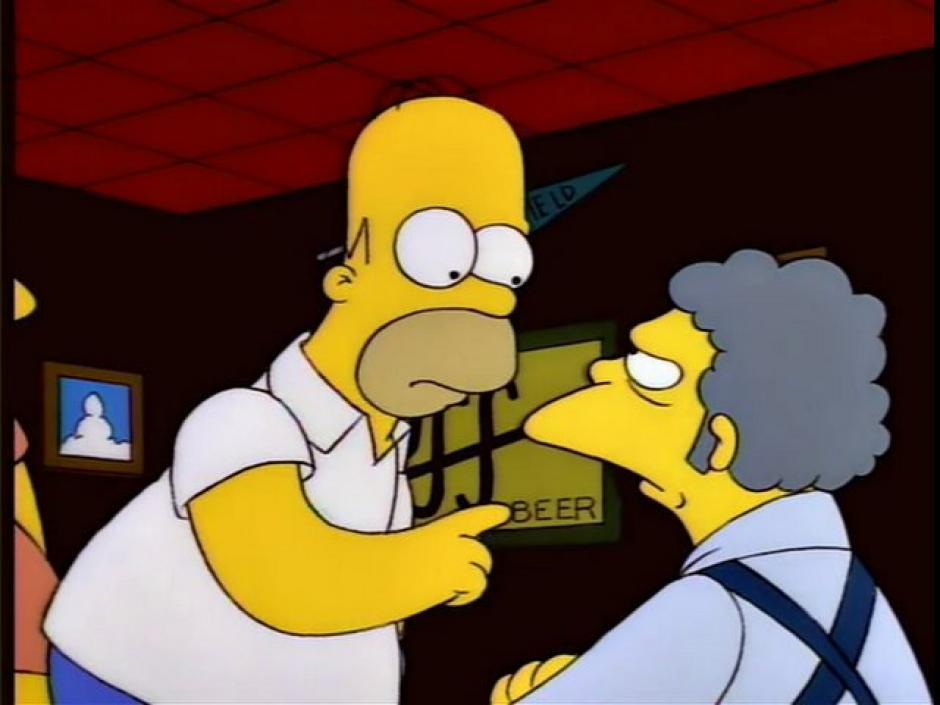 El lugar favorito de Homero es la taberna de Moe. (Imagen: frinkiac.com)