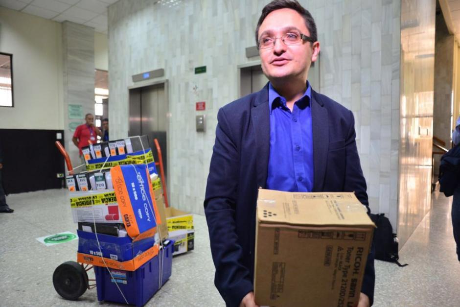 El fiscal Juan Francisco Sandoval presentó la acusación contra los 12 implicados del caso TCQ. (Foto: Jesús Alfonso/Soy502)