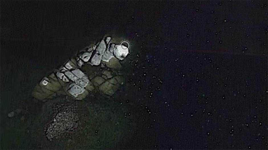 Estudiosos dicen que puede ser la silueta formada por un alga marina. (Imagen: Captura de pantalla)