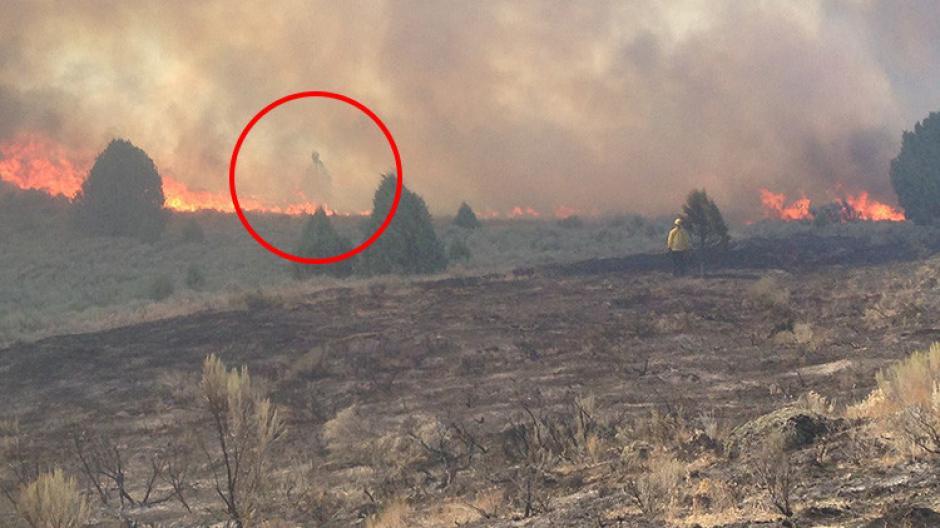 El incendio se produjo en el Estado de Idaho. (Foto: Jeanette Caldwell Empey/Facebook)