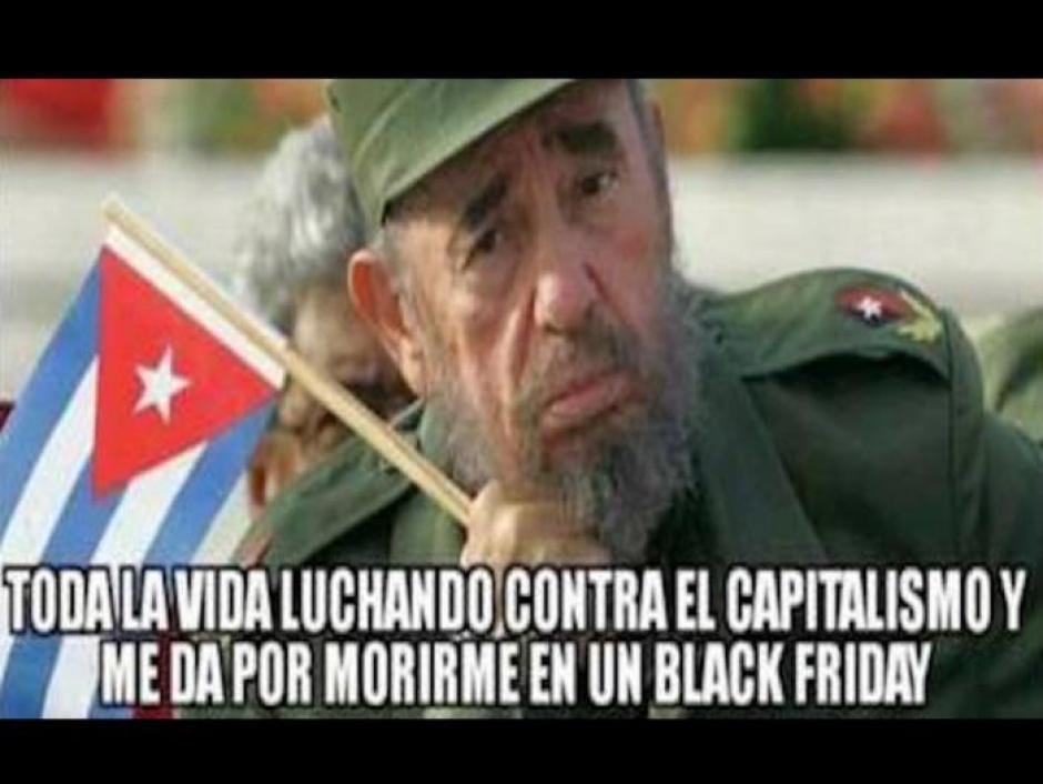 Irónico fue que Castro falleciera en un Black Friday. (Foto: Twitter)