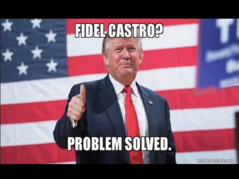 Donald Trump expresó su sentir por la muerte de Castro este fin de semana. (Foto: Twitter)