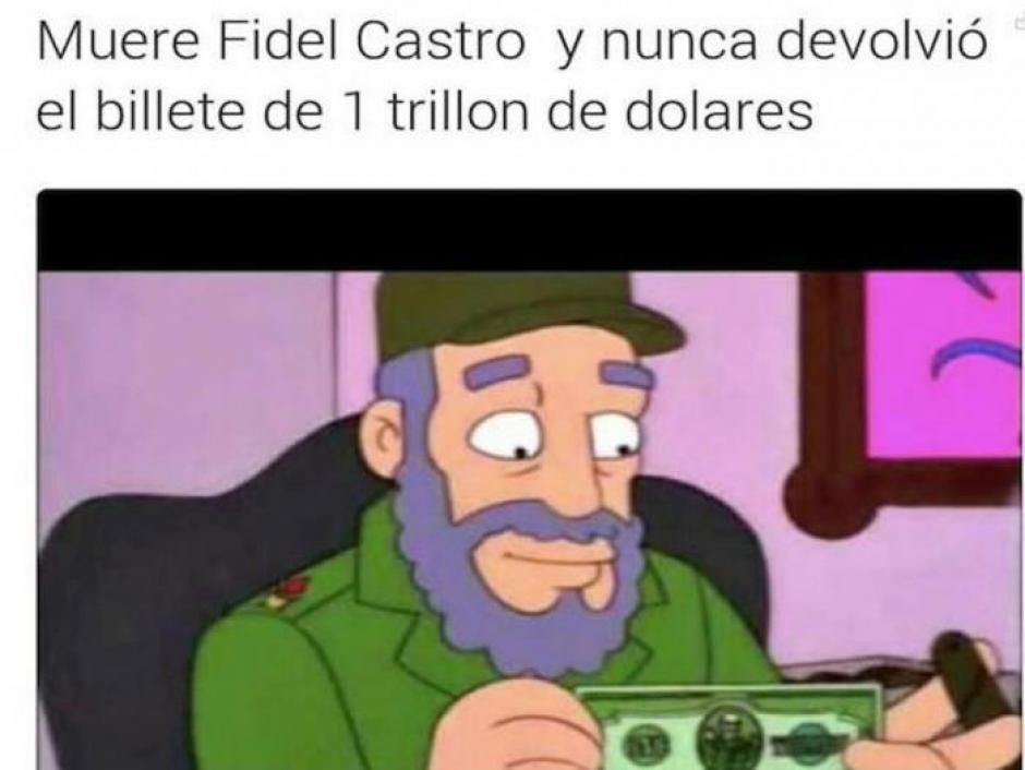 El líder cubano fue parte de uno de los capítulos de los Simpson. (Foto: Twitter)