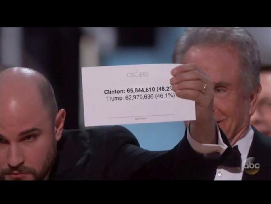El error de los sobres fue parodiado por los usuarios. (Foto: Twitter)