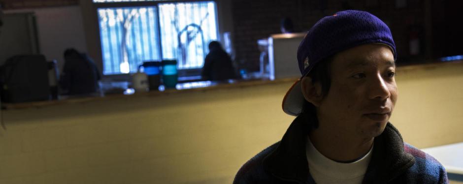 Josué se encuentra en un albergue para migrantes instalado en Ciudad Juárez, México. (Foto: Univisión)