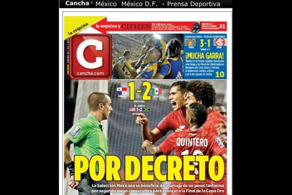 """El periódico """"Cancha"""" de México. (Foto: diez.hn)"""