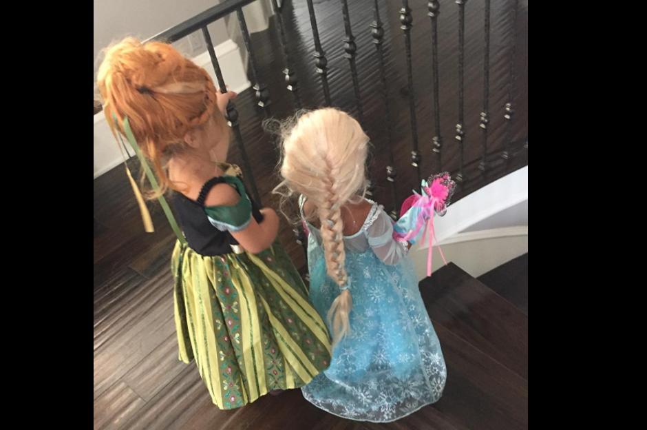 Kim Kardashian decidió disfrazar a su pequeña North West de la reina Elsa de Frozen.