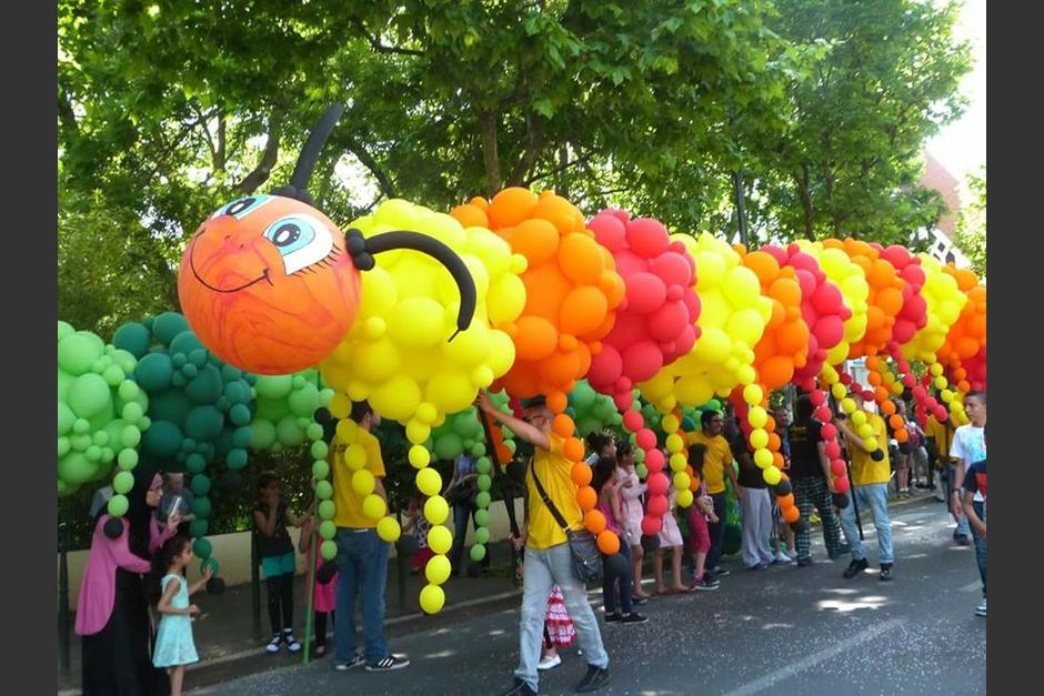 Una serie de esculturas de globos recorrerá el Centro Histórico. (Foto: Municipalidad de Guatemala)