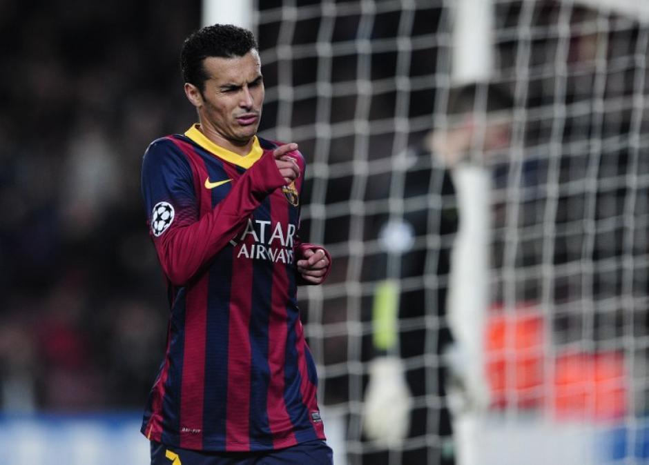 Pedro Rodríguez anotó uno de los goles del Barcelona ante el Celtic.
