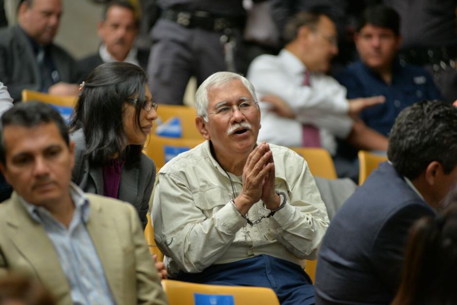 El exministro de Agricultura Edín Barrientos durante la jornada 12 de audiencia de primera declaración. (Foto: Wilder López/Soy502)